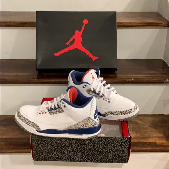new style 49460 c5730 Jordan Other - Air jordan 3 - true blue - sz 12 black 854262-